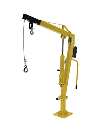Vestil WTJ-2 Winch Operated Truck Jib Crane, Welded Steel, 1000 lbs Retracted Capacity, 56
