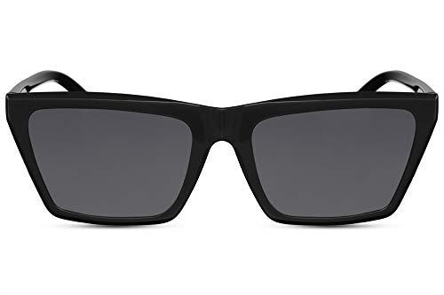 Cheapass Gafas de Sol Wide Cat Eye Style Diseño Moderno Montura Negra con Lentes Oscuras protección UV400 Mujer