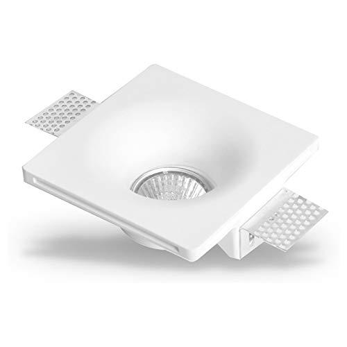 Preisvergleich Produktbild famlights Wand-Einbaustrahler Marina aus Gips,  weiß / Einbauleuchte Einbaustrahler EInbauleuchte Rigips-Leuchte Rigips-Lampe Einbaulampe Deckenleuchte Deckenlampe Deckenspot Einbauspot bemahlbar