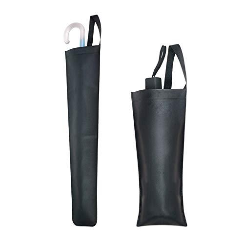 Wuqiang Paraguas cubierta, impermeable plegable Sombrilla paraguas mojado Protección de la cubierta bolsa de almacenamiento, se ajusta a Car Negro Paraguas Bolsas agua cubre resistentes Auto accesorio