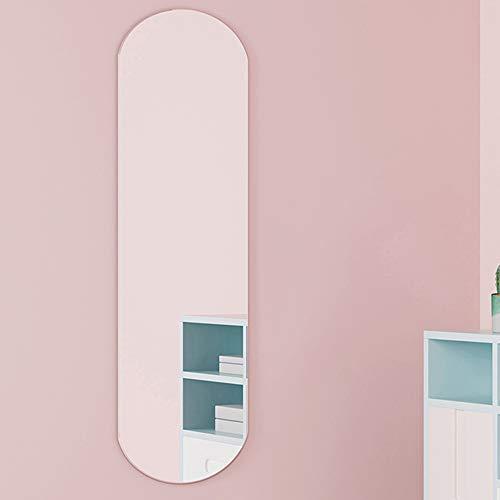 Wall mirror Espejo de Cuerpo Entero montado en la Pared para el hogar Espejo de Vidrio de Alta definición sin Marco Simple Espejo de Ajuste de Tienda de Ropa/Imágenes HD/Bordes Lisos