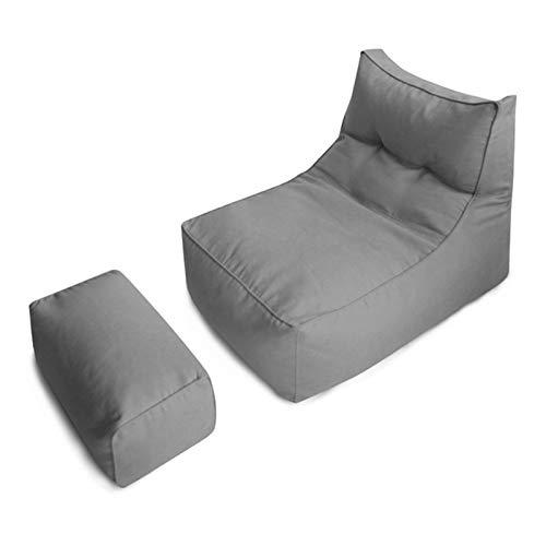 QCBC Lazy Cotton Lino Bolsa de Frijoles Silla Sofá Cubierta Cubierta Gris Tumbona Pouf Puff Sofaque para Partido de Juego de Office Home