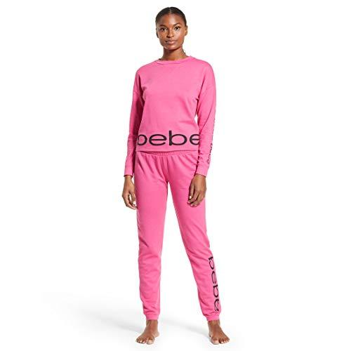bebe Intimates Loungewear Pajama Set, Sweater Pants - Rose Violet, 1X
