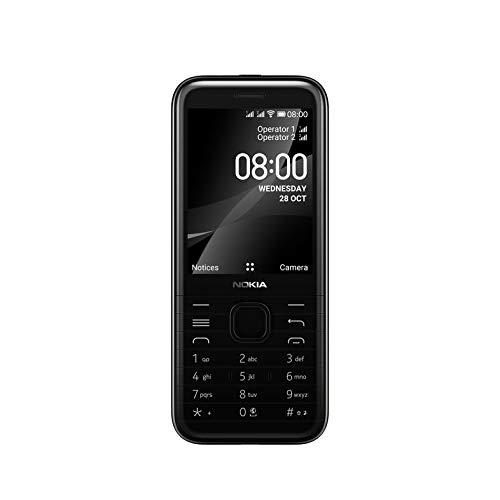 Nokia 8000 4G - Teléfono móvil 2,8  (4 GB RAM, 64 GB ROM, Cámara 2MP,Batería,1500 mAh, Dual Sim, Qualcomm Snapdragon 210), Negro