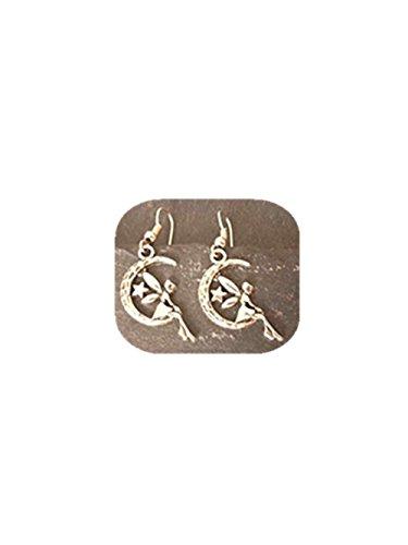 Pendientes de plata, pendientes con diseño de hada
