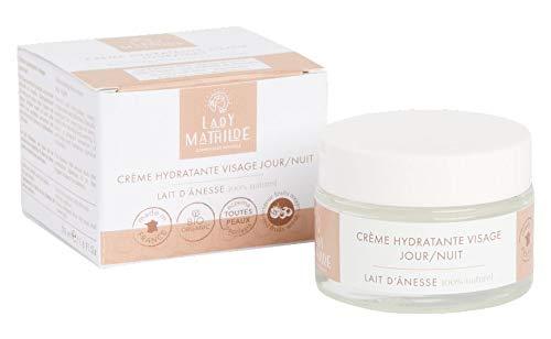 Crème visage au lait d'ânesse 100% naturel, 0 CMR, 0 OGM, Non comédogène, non testé sur les animaux, 0 PARABEN, 0 COLORANT, 0 ALLERGENE en pot de 50 ml