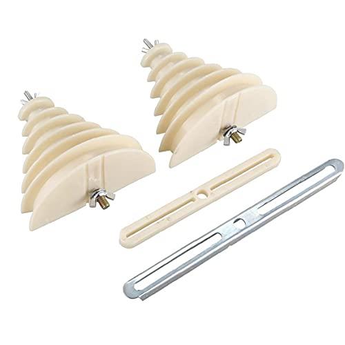 NiceCore Coil Winding Wire Molde 6 Capas de plástico monofásico Beige máquina eléctrica Molde Winding
