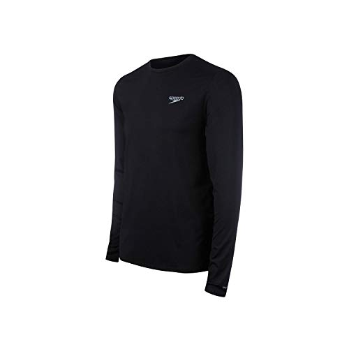 Speedo Camiseta Uv Protection M/L Masculina Homens P Preto