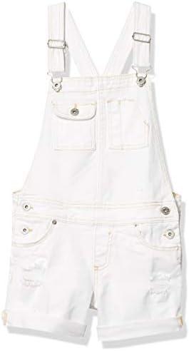 Lucky Brand Girls Shortall Kesha Rip Repair White 10 product image
