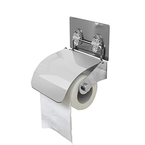 WXXSL Acciaio Inossidabile Portarotolo Bagno, Anti ruggine Montaggio a Parete Portarotolo Carta Igienica Deposito del Tessuto del Bagno Argento 14×9,7×16,5cm