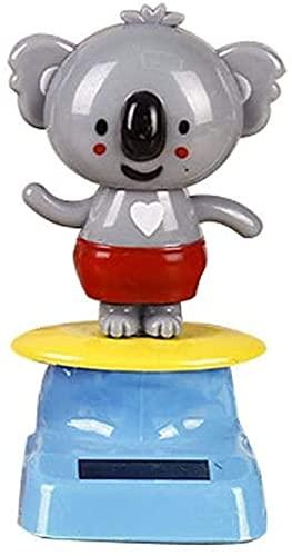 QiWangBai Solar Dancing Koala Toy, Swinging Animated Cute Solar Powered Shaking Head Dolls, Fun Desktop Decor Gift for Car Home Office Professional Fun (Koala)