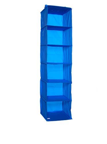 Compactor Home RAN5342 Etagere Souple, PEVA, Bleu, 30 x 30 x 128 cm