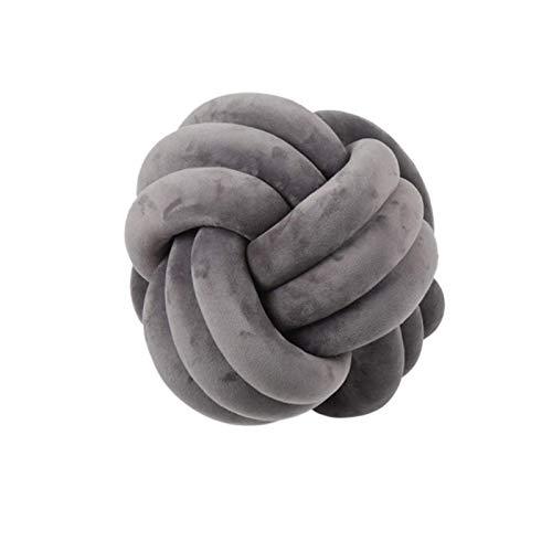 Almohada de bola de nudo, cojines del sofá, accesorios de fotografía, abrazo, almohada de lanza, diseño de bolas de peluche anudado Tiro redondo Cintura trasera Cojines para el hogar Sofá cama Decorac