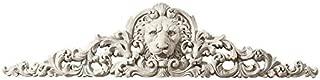 Design Toscano Remoulage Lion Wall Sculpture Door Decor Pediment, 38 Inch, Polyresin, Antique Stone