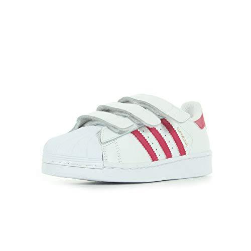 adidas Superstar Foundation CF C, Zapatillas de Baloncesto Unisex niño, Blanco (Ftwbla/Rosfue/Ftwbla 000), 31 EU