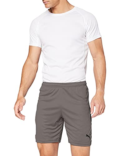 Puma Liga Shorts, Pantaloncini Uomo, Grigio (Steel Grey/Black), L