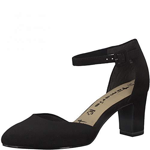 Tamaris Damen Riemchen Pumps, Frauen Pumps,Touch It-Fußbett,Woman,Court,Shoes,Absatzschuhe,stöckelschuhe,Abendschuhe,feine,Lady,Black,41 EU / 7.5 UK
