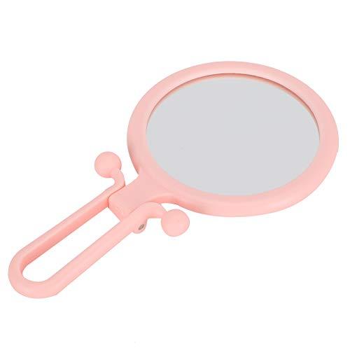 01 Miroir grossissant, Pliant 2X Miroir de Maquillage Pliant grossissant Miroir cosmétique Tenu dans la Main pour l'application de Maquillage de Table de Bureau d'élimination des Points Noirs