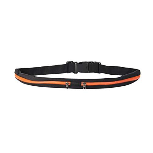 Togethor Outdoor Stretch Sports Belt Pockets Mobile Phone Bag Running Belt for Fitness Jogging Workout Runner Sports
