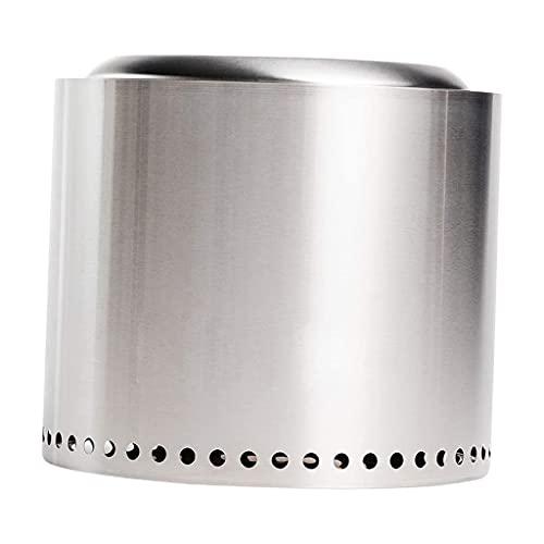 Fenteer Fogón de Hoguera, de Acero Inoxidable, Madera sin Humo, con Caja de Transporte, diseño de Doble Pared Que maximiza el Flujo de Aire y el Proceso de