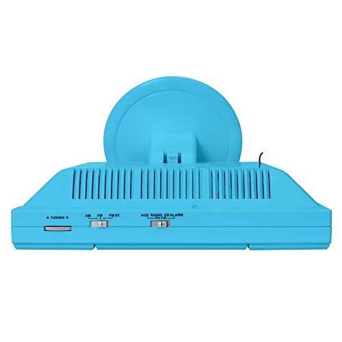 oneConcept V-12 Impianto Stereo HiFi mini (radio FM, lettore CD, lettore MP3, ingressi USB e SD, ingresso Aux, display LCD) - azzurro