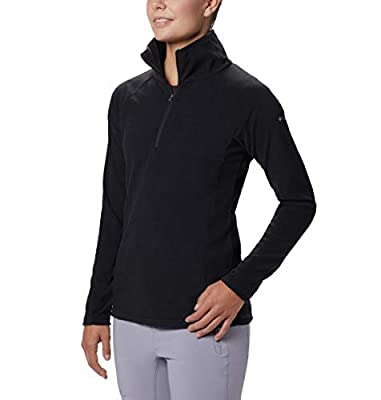 Columbia Women's Glacial IV Half Zip, Soft Fleece with Classic Fit, Black, X-Large