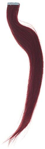 Hair By MissTresses Extensions de Remy Cheveux humains ruban en, Berry Rouge 50,8 cm/50 g