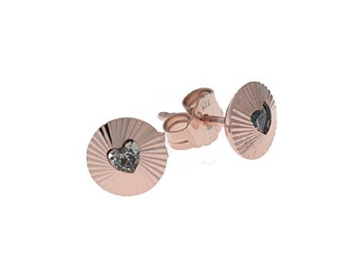 Pandora Pendientes de botón Mujer vermeil - 287297CZ