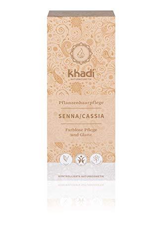 khadi Senna/Cassia (Neutrales Henna) 100g I natürliche Haarkur für gesundes Haar I Naturkosmetik 100% planzlich