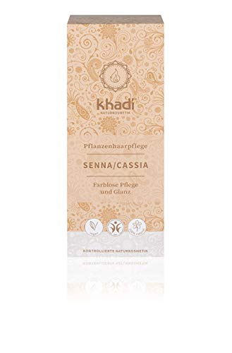 Khadi Senna/Cassia (Neutral Henna) 100 g, Natural Hair Treatment for Healthy Hair, Natural Cosmetics, 100% Plancal, Neutral Senna/Cassia