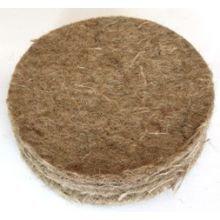 SUPA Fieltro de Yute Canario, tamaño 12.7 cm, Paquete de 10, Alfombrilla de Fibra Natural Que Hace Que un Nido cálido y Seguro