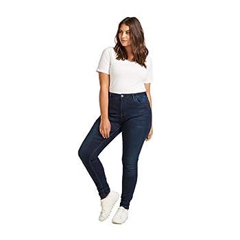 Zizzi Damen Große Größen Jeans Super Slim Amy