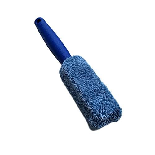 Lixiaonmkop 1 stück Mikrofaser-Rad & Randbürste für Autokofferraum Motorrad Fahrrad Auto Reifen Motor Waschmaschine (Color : Blue)
