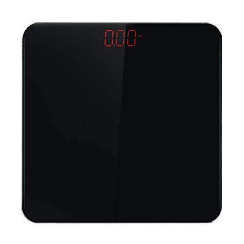 ZhenHe Balanza de alta precisión báscula de baño, balanzas electrónicas escala Inicio Peso Corporal con pantalla LED, 180Kg / 400 libras Negro