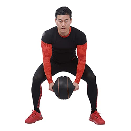 PLUY Fitness Balón Medicinal de Goma binaural,Home Gym Core Training Aerobic Pelota de Fitness elástica,3 kg/4 kg/5 kg/6 kg/8 kg/10 kg (Tamaño:5 kg/11 LB)