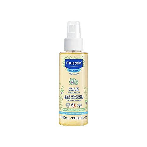 Óleo de Massagem com Abacate Orgânico Mustela, Hidrata a pele dos bebês, 99% de ingredientes de origem natural, 100ml, Mustela Bebê, 100 ml