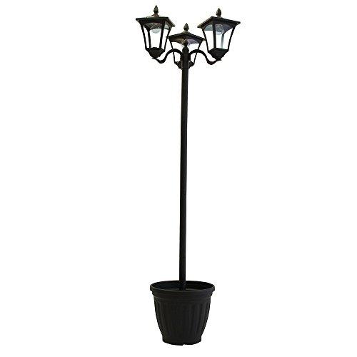 植木鉢付きソーラー街灯3灯 a14871