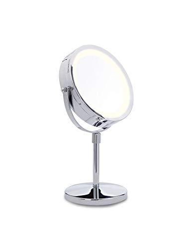 Lanaform Stand Mirror - Miroir pour maquillage LED sur pied grossissant x10