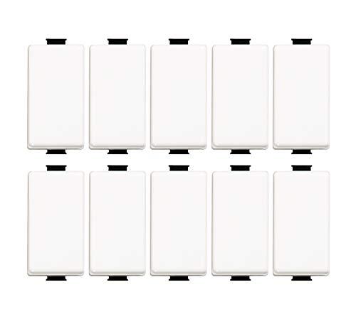Bticino ASTAM5001 Set mit 10 Schalter Matix 1P 16A, Weiß