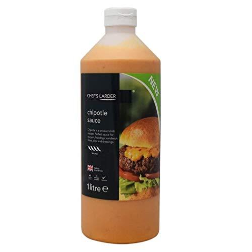 Chef's Larder Chipotle Sauce, 1 Litro, Salsa perfetta per hamburger, hot dog, panini, salse, condimenti e marinate, Confezione da 2