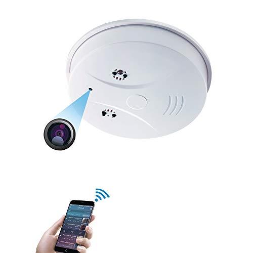 Camara Espia WiFi,UYIKOO Humo con cámara WiFi HD 1080P Mini Alarma de Humo Inteligente Nanny Camcorder Detección de Movimiento con Control Remoto del iOSAndroid