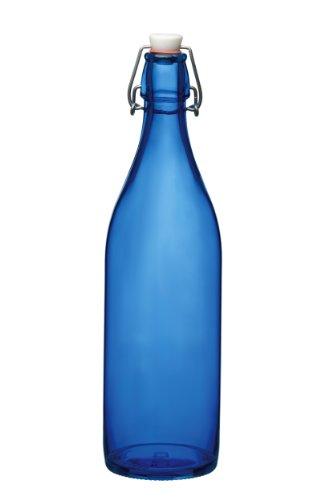 Bormioli Rocco Giara Bottle, 33.75-Ounce, Blue