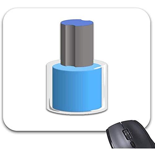 Mauspad,Nagellack-Flaschen-Blau-Mausunterlage Bequeme Laptop-Spielunterlage 18X22Cm