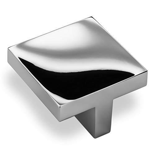 SO-TECH® Möbelgriff Möbelknopf Dora 40 x 40 mm BA 32 mm Chrom poliert