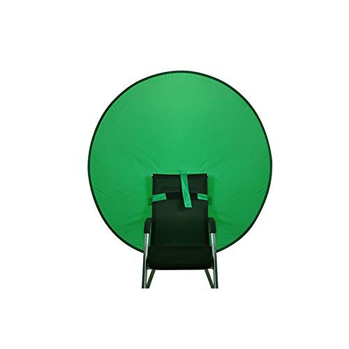 POHOVE Webcam Fondo Privacidad Silla de Pantalla Verde Portátil Fondo Verde Pantalla Virtual Fondo para Silla Panel de Fondo Plegable para Foto Video Estudio
