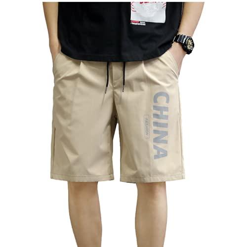 Pantalones cortos ligeros para correr o entrenar en el gimnasio para hombre Pantalones cortos holgados y cómodos Moda Casual Ropa de oficina Moda para el trabajo Pantalones cortos regulares XXL