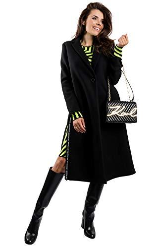 Love Moschino Women's WINTERMANTEL Jacket, Black, 40