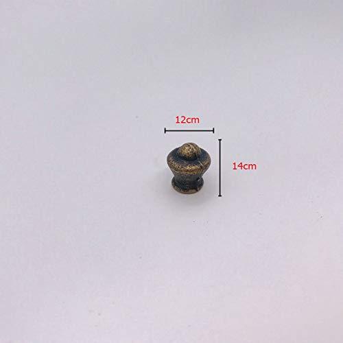 Piore 1Pc Vintage Antiek Messing Kast Handvatten Enkele Bronzen Handgrepen Lade Knoppen Garderobe Deurtrekkers, 024