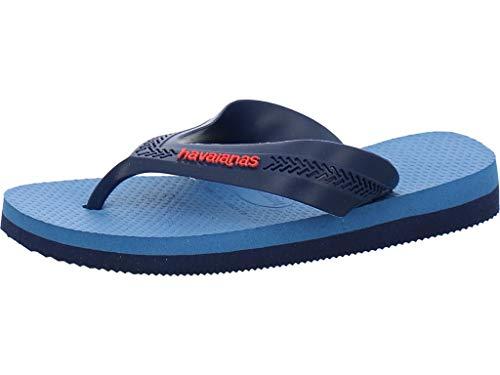 Havaianas Max, Infradito Unisex-Bambini, Blu (Navy Blue/Blue Star/White 0718), 33/34 EU