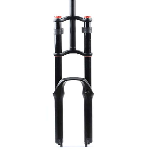 XCAYBH MTB Air Spring DH Bike Suspension Fork MTB Dõ  Blë Control de Hombro Amortiguador Aire Amortiguador Ajuste Ajuste 1-1/8'Eje QR Bicicleta Ultralight Mountain Bike Ajuste De Rebote